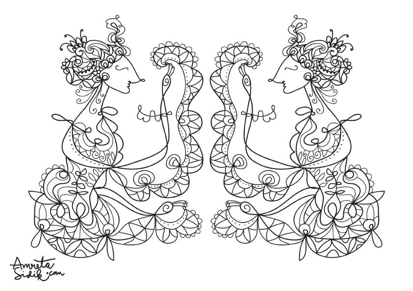 Coloring Sheets Page 2 The Artful Blog Of Amreta Sidik An