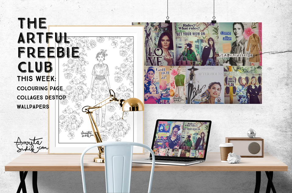 NEW Fashion Girl Colouring Page Part 2 And Collage Wallpapers
